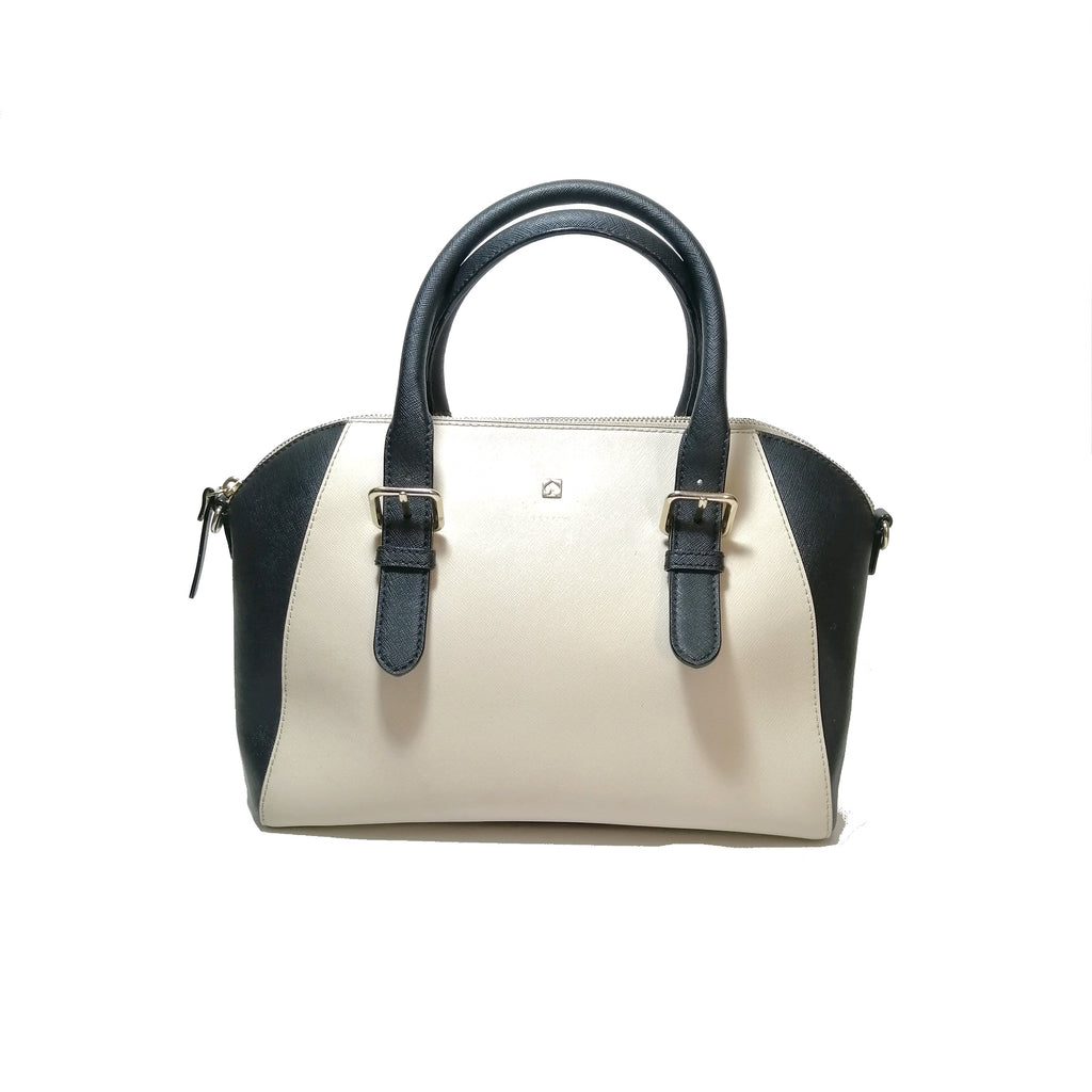 Kate Spade Cream & Black Leather Tote