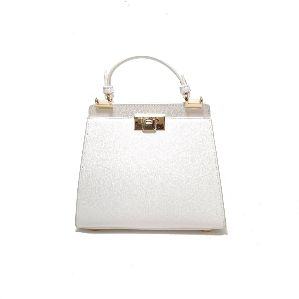 Charles & Keith White Convertible Satchel | Gently Used |