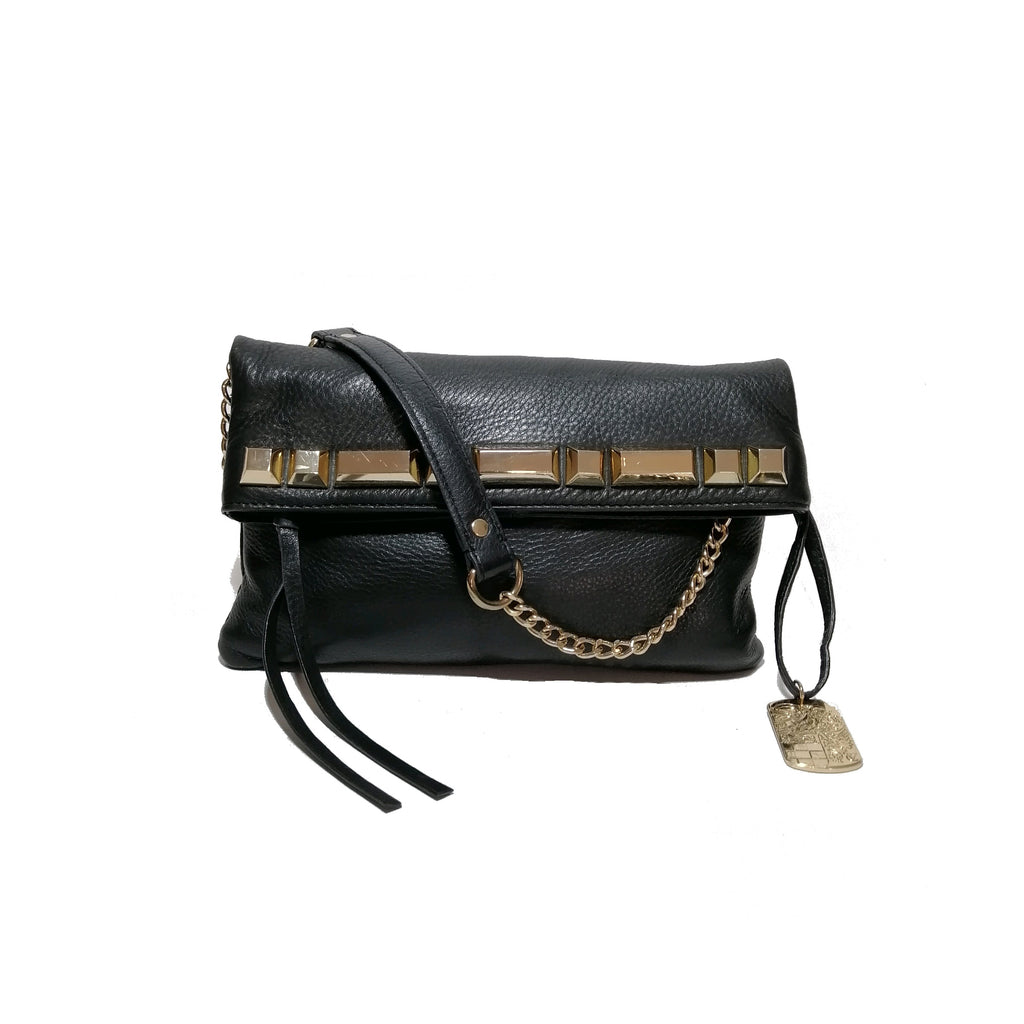 Vince Camuto Black Leather Clutch