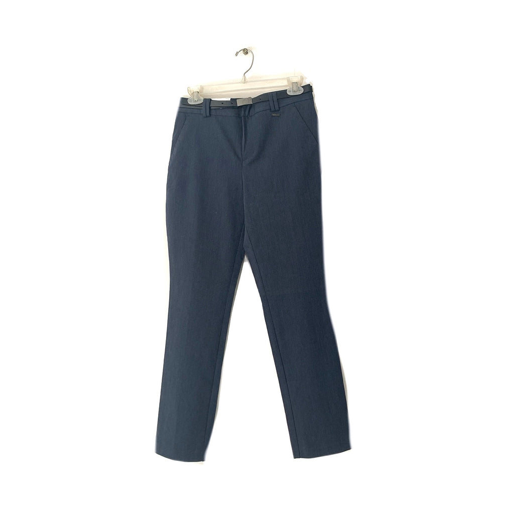 Calvin Klein Navy Pants with Black Belt | Brand New |