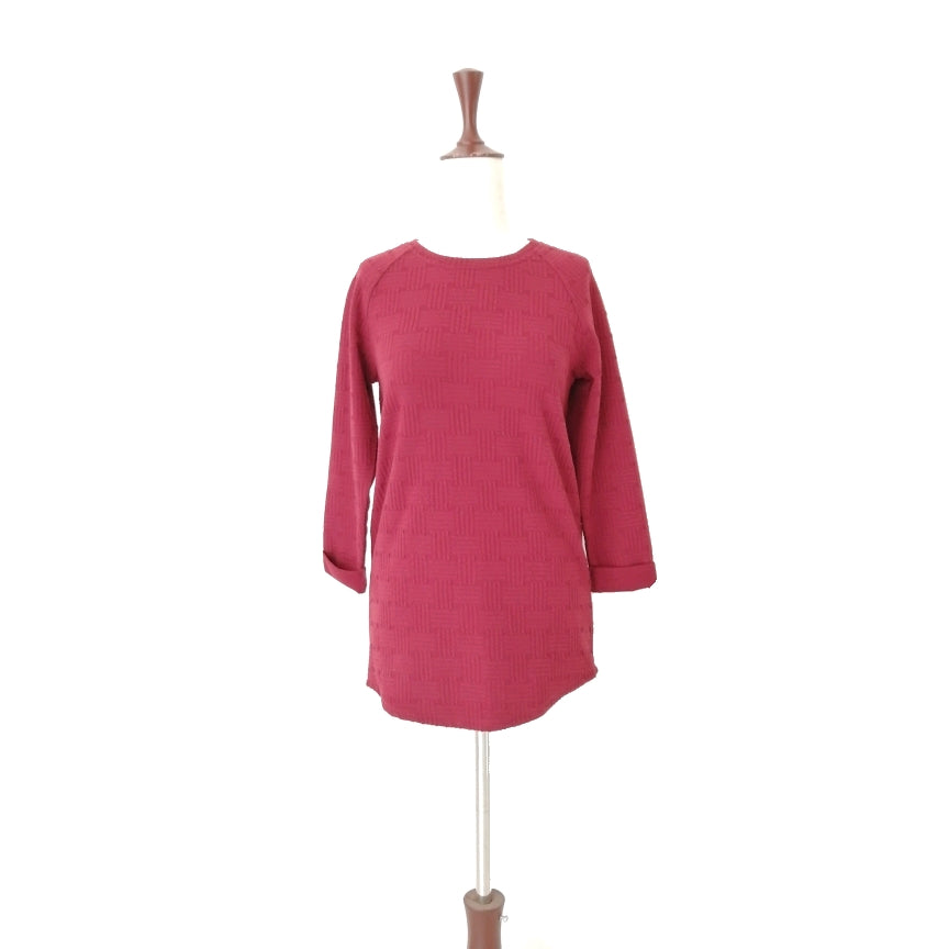 Top Shop Rust Textured Long-sleeved Top | Gently Used |