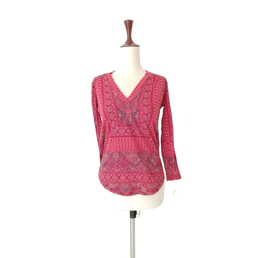 Lucky Brand Red Printed Tunic | Gently Used |