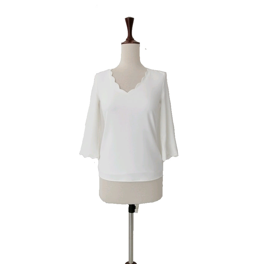 H&M Cream Curved Neckline Top | Brand New |