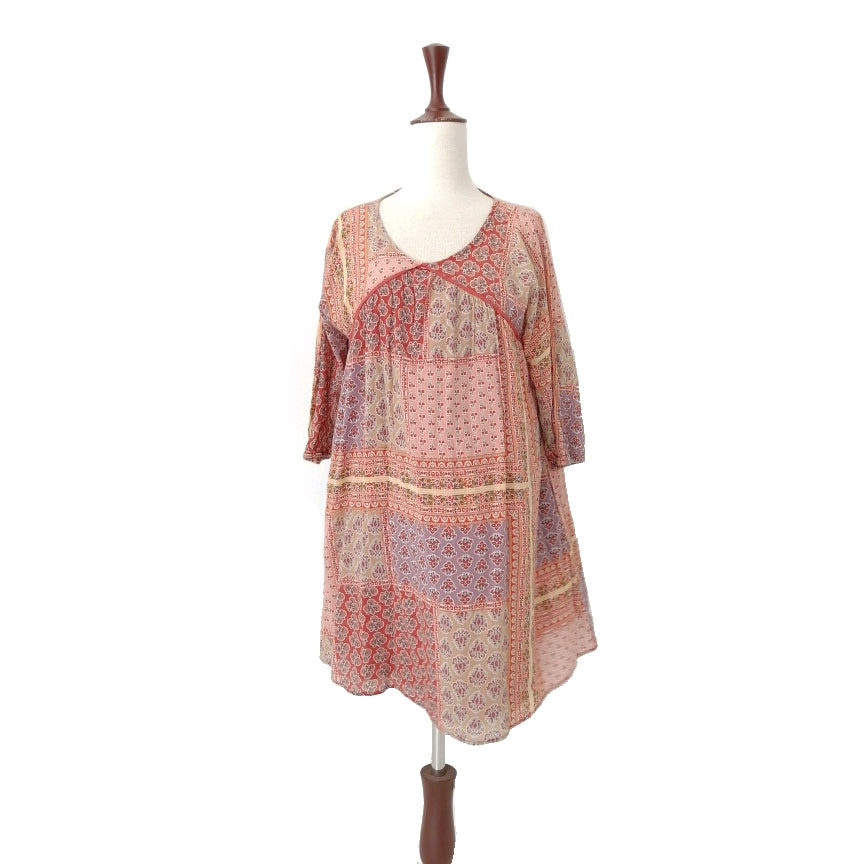 Mango Printed Cotton Dress | Gently Used |
