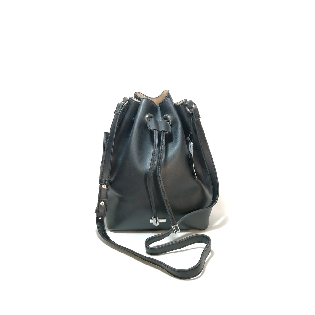 Mango Black Drawstring Shoulder Bag