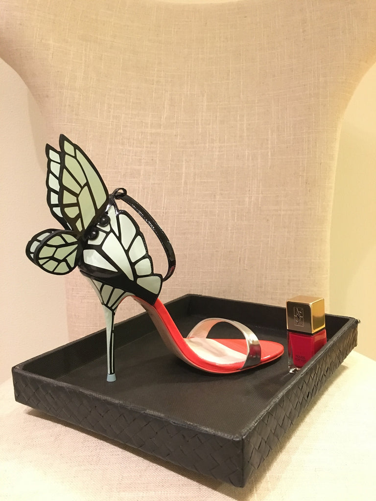 Sophia Webster 'Chiara Butterfly Wing' Mint Silver Heels | Gently Used |