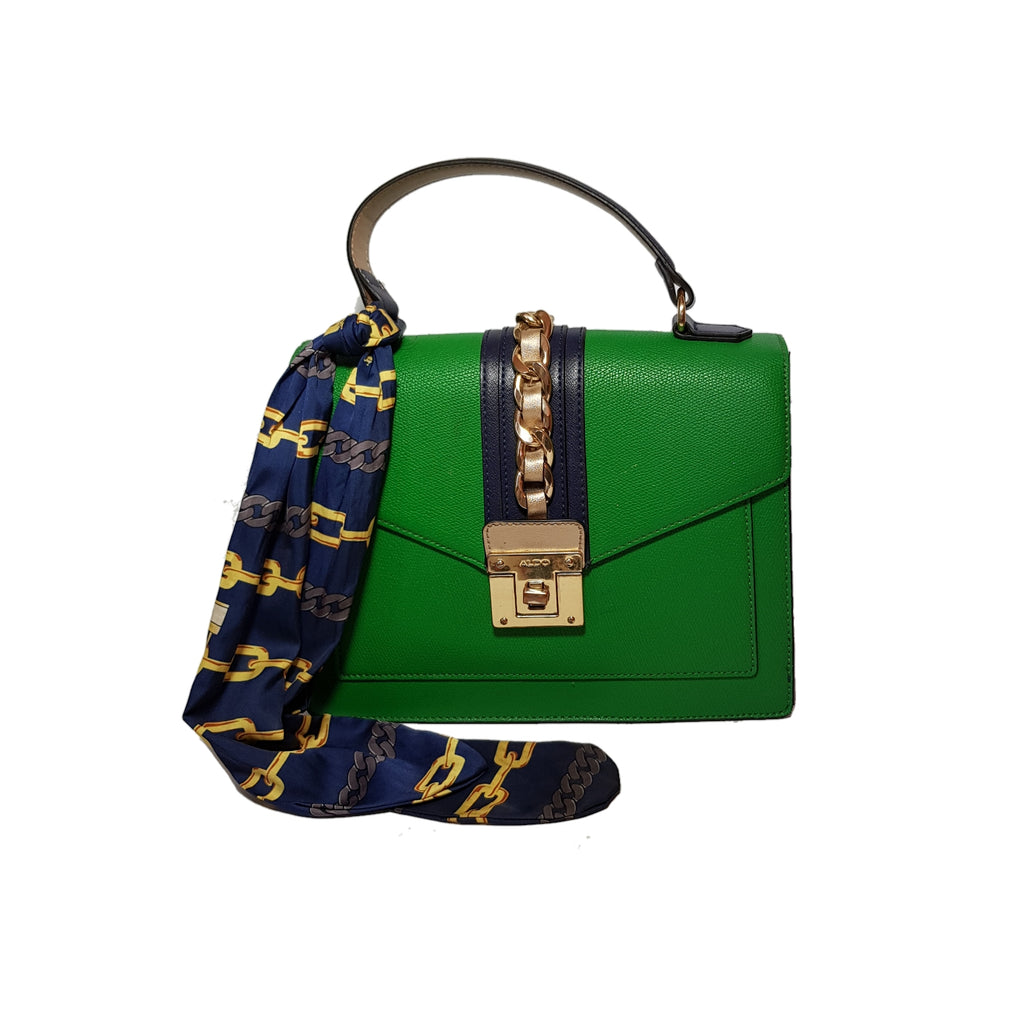 ALDO 'GLENDA' Green & Navy Satchel | Pre Loved |