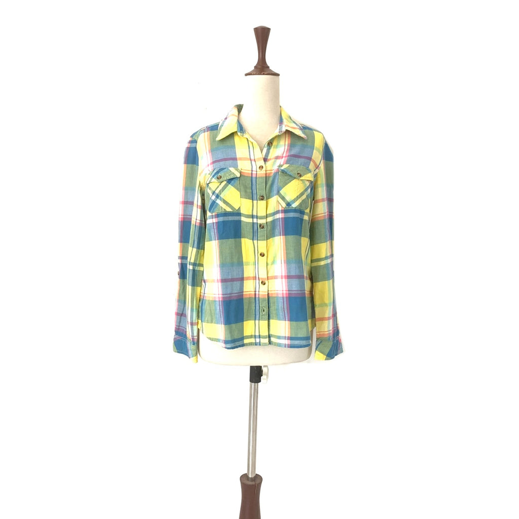 Marks & Spencer Blue & Yellow Checked Shirt | Brand New |
