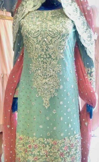 Zainab Chotani Light Blue Bridal Outfit | Gently Used |