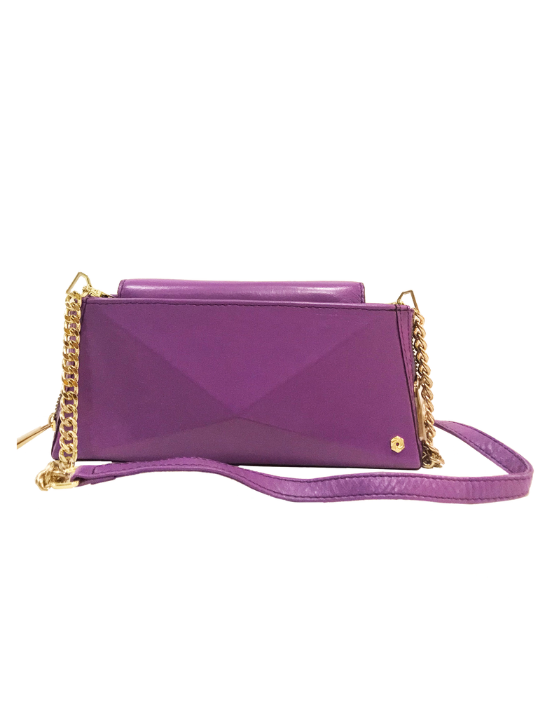 Warp Lavender Leather Wallet-On-Chain | Sample |