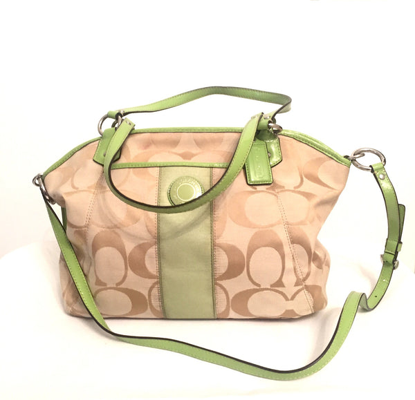 Coach Green Monogram Signature Collection Tote Bag | Gently Used | - Secret Stash