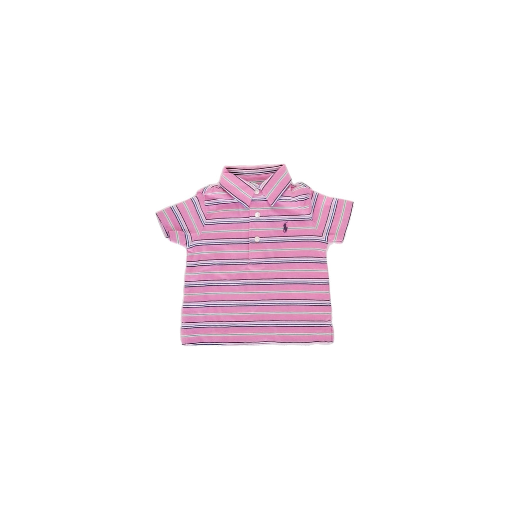 Ralph Lauren Maui Pink Striped Shirt (6 months)