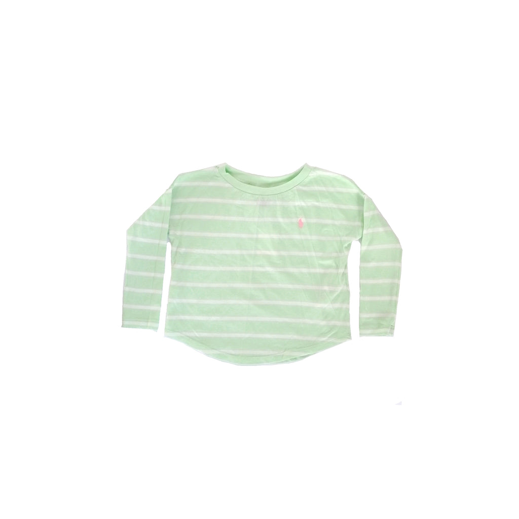 Polo Ralph Lauren Green Striped Shirt (3 years)