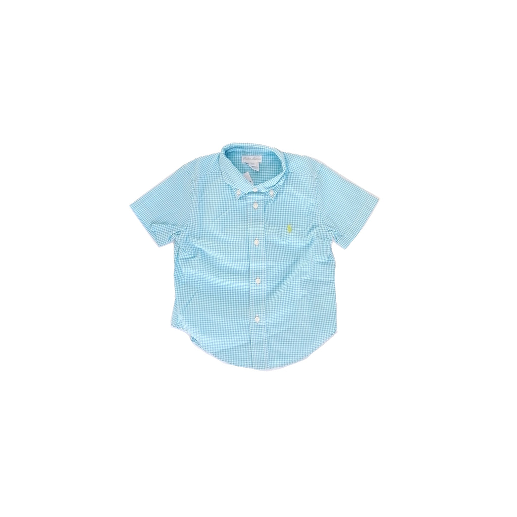 Ralph Lauren Gingham Light Blue Shirt (24 months)