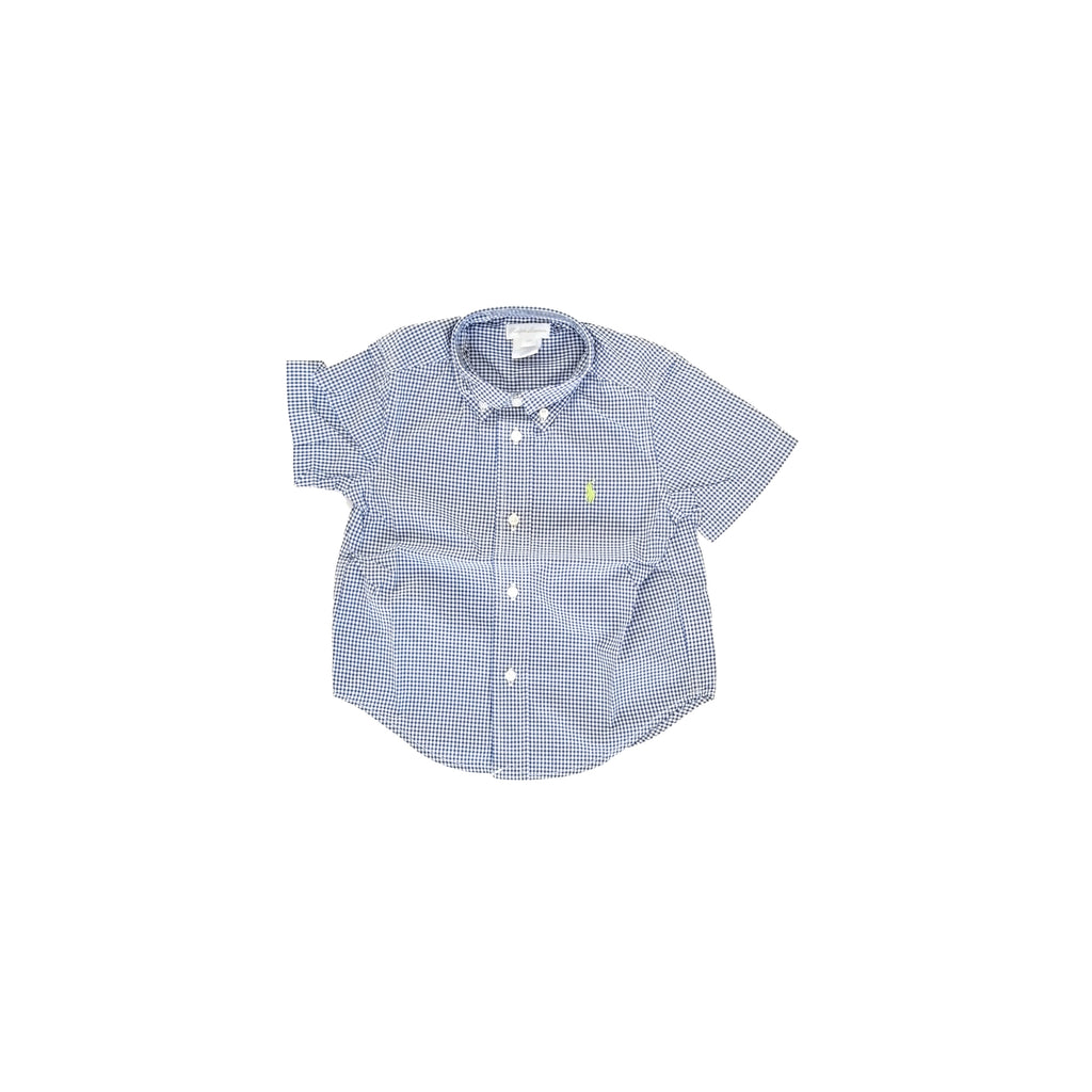 Ralph Lauren Gingham Navy Blue Shirt (24 months)