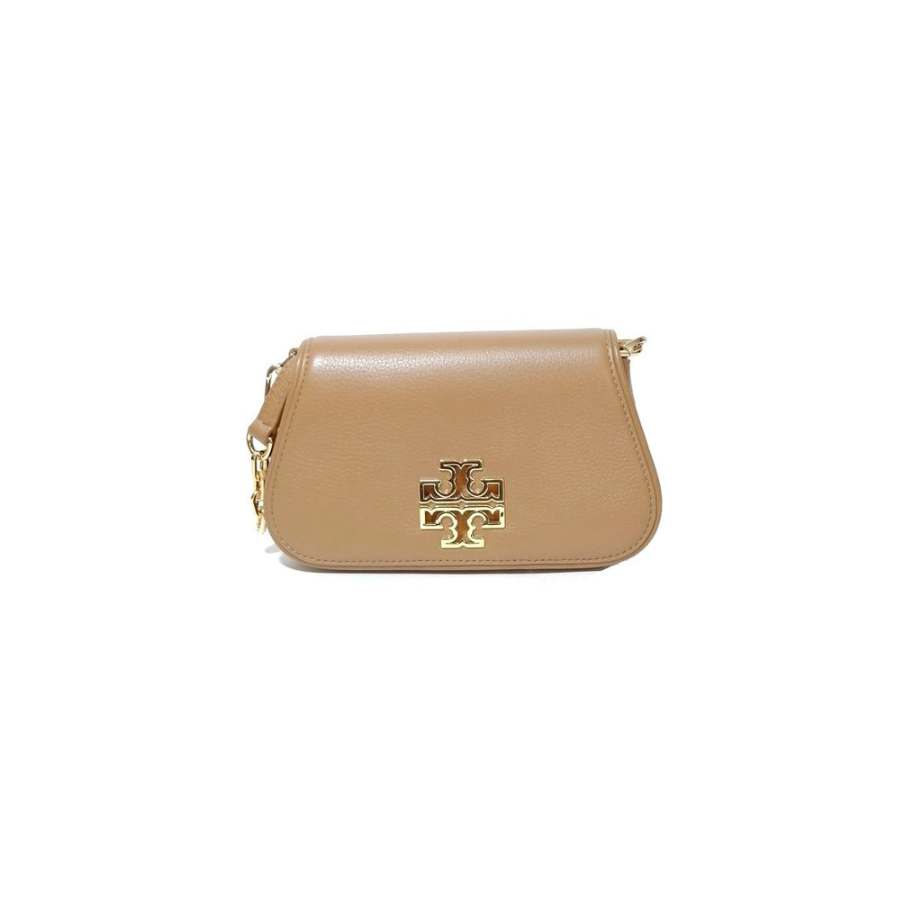 Tory Burch Tan Britten Mini Cross Body Bag | Like New |