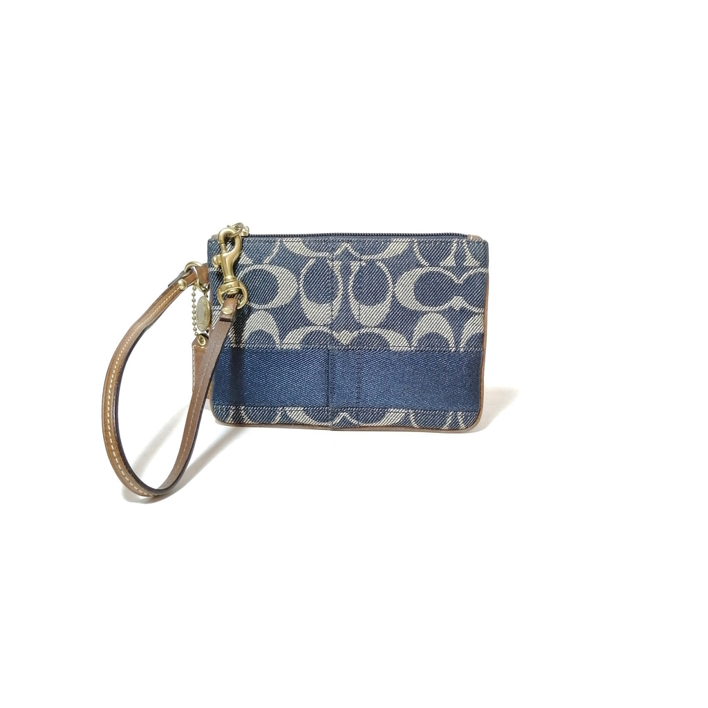 Coach Denim Small Wristlet