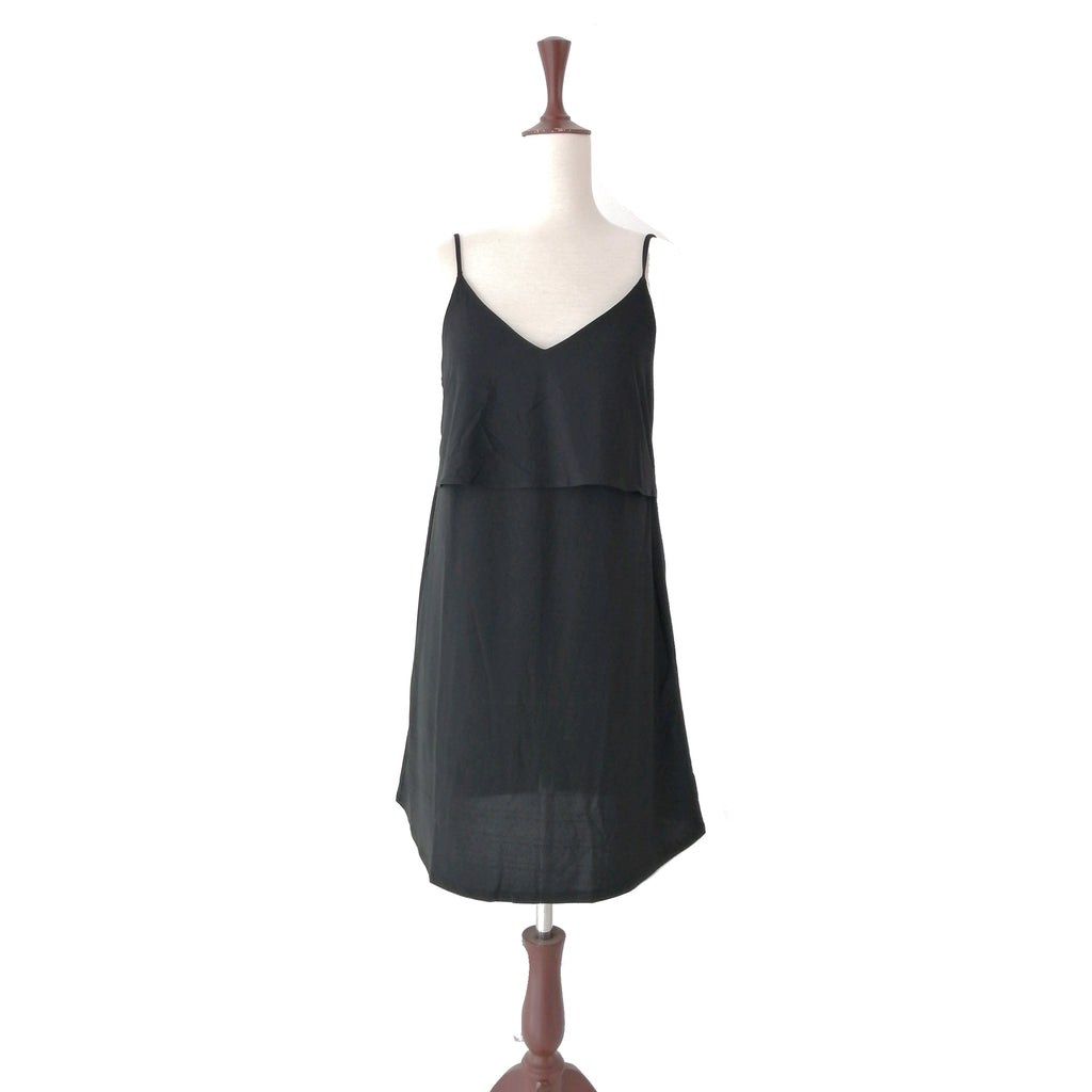 Mango Black Slip Dress