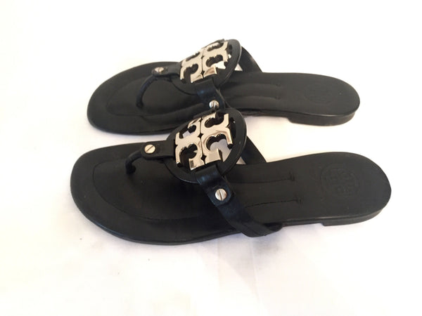 Tory Buch Black 'Miler 2' Sandals | Gently Used | - Secret Stash