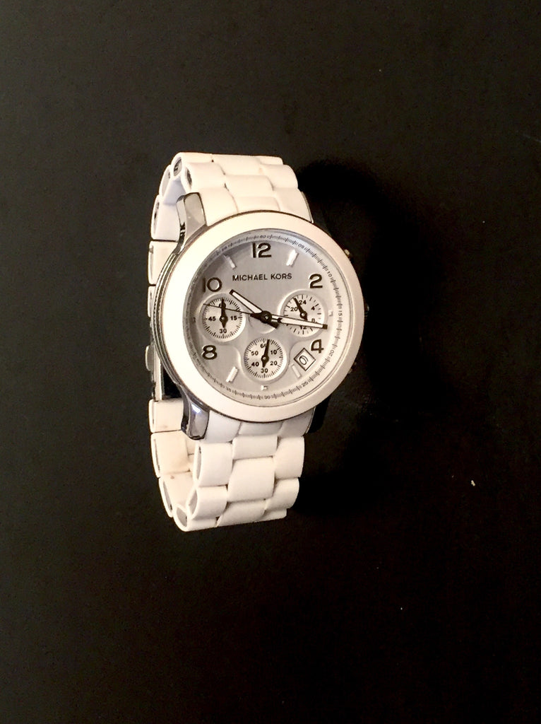 Michael Kors White Ceramic Bracelet Watch | Gently Used | - Secret Stash