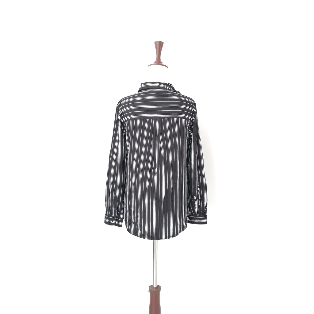 H&M Black & White Striped Shirt