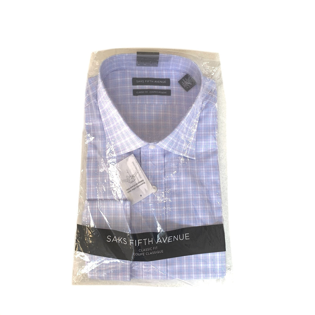 Saks Fifth Avenue Men's Checked Cotton Shirt | Brand New |