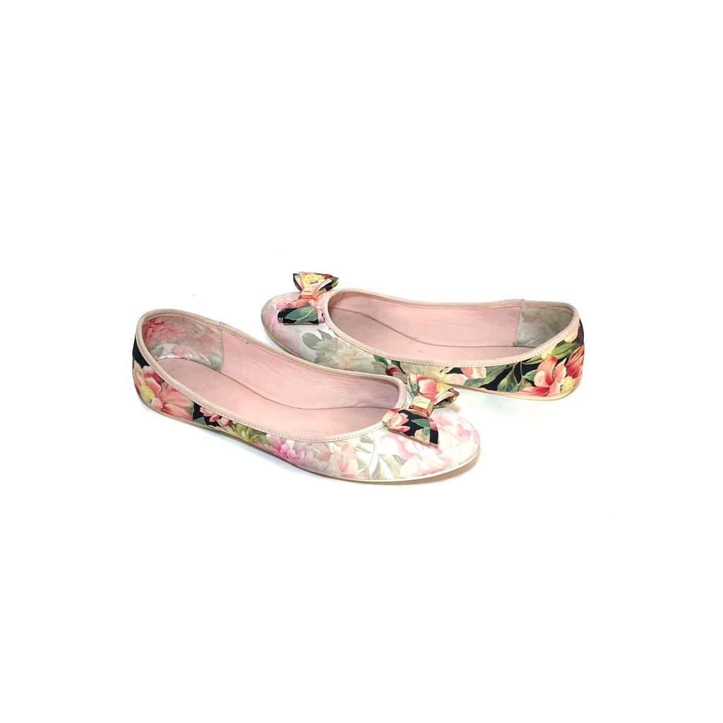 Ted Baker Pink Printed Ballet Flats | Pre Loved |