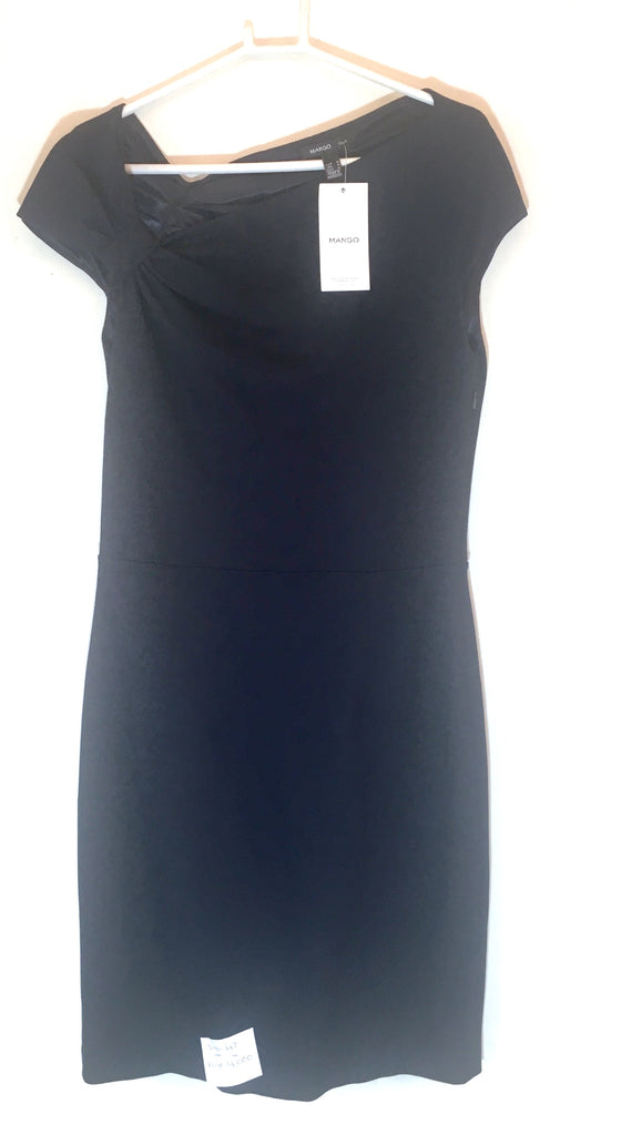 MANGO Navy Blue Bow Detail Dress | Brand New |