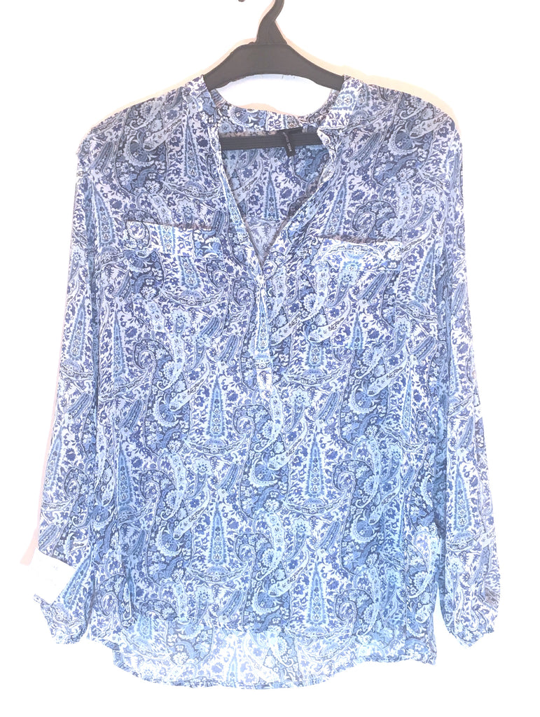 MANGO Blue Printed Top | Like New |