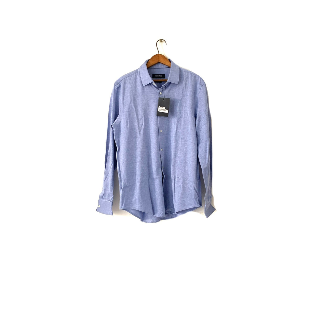 ZARA Men's Blue Long-Sleeved Collared Shirt | Brand New |