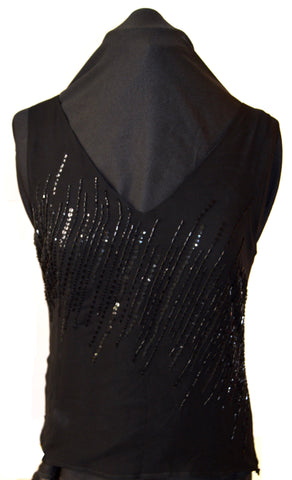 Max Mara Black Sequined Silk Top | Gently Used |