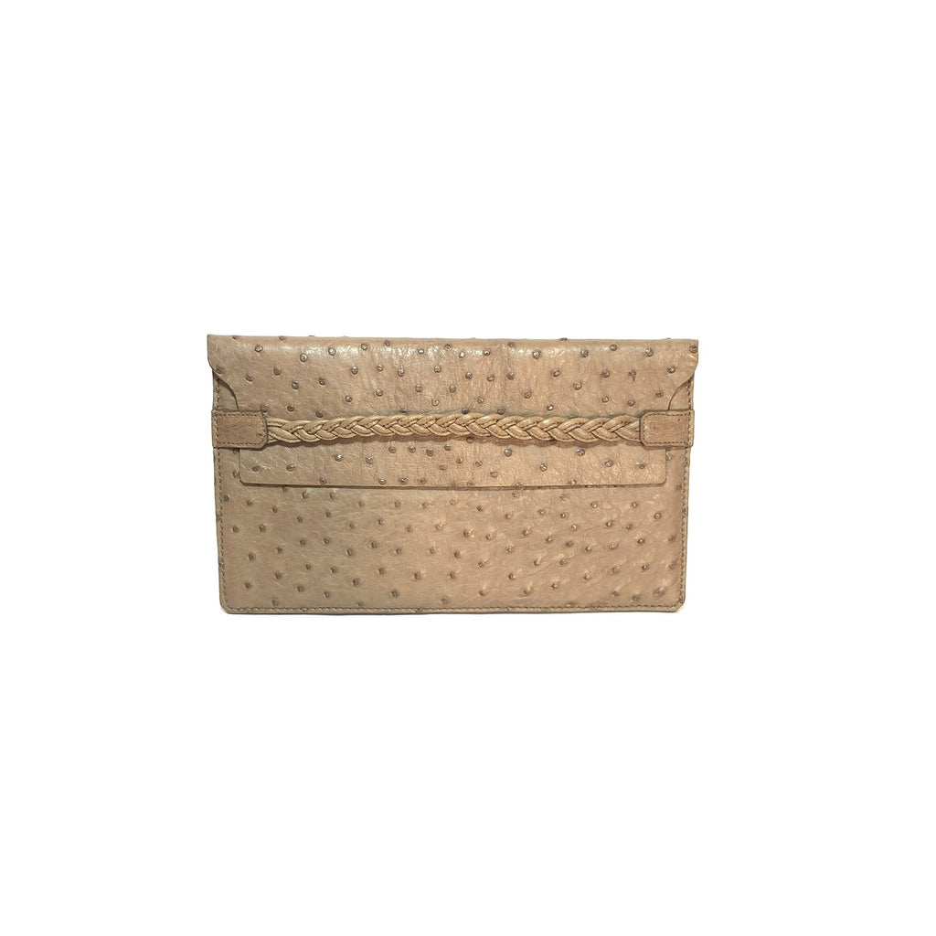 Valentino Ostrich Leather Clutch | Gently Used |