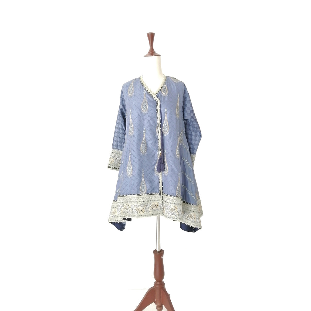 Khaadi Khaas Blue Peshwaz Embroidered Kameez