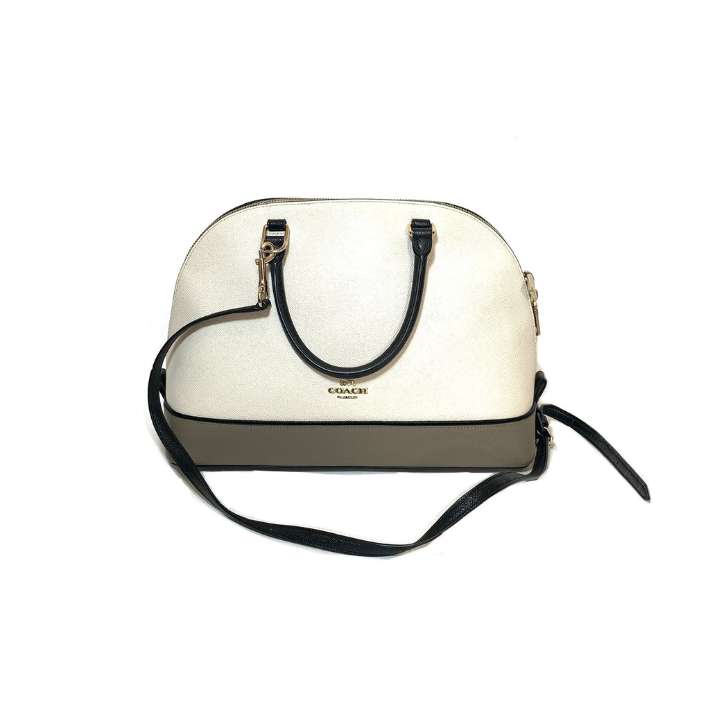 Coach Tri-colour Cream Leather Dome Satchel | Pre Loved |