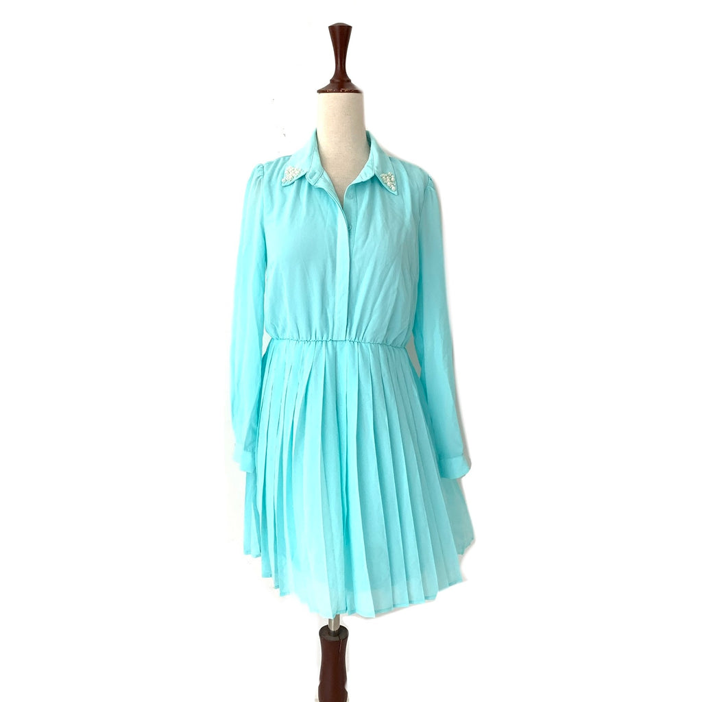 Forever 21 Light Blue Pearl Dress | Brand New |