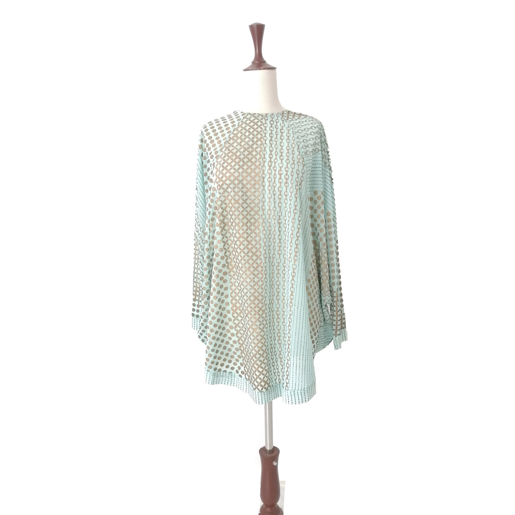Blocked Turquoise & Gold Tunic