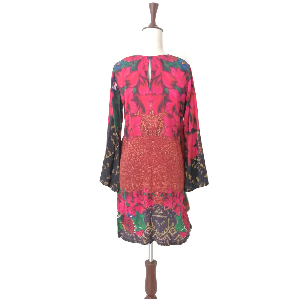 Sana Safinaz Red Printed Silk Tunic