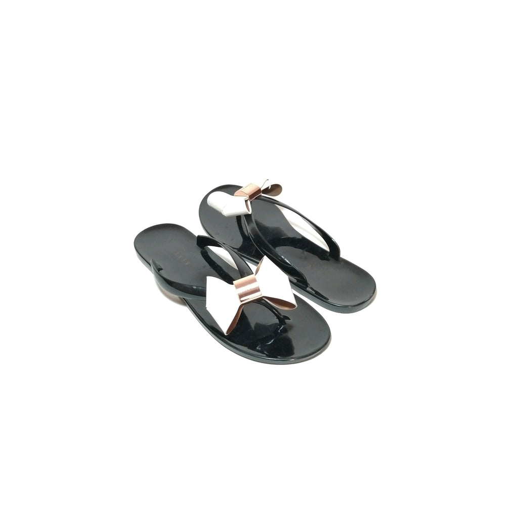 Ted Baker Black Bow Jelly Sandals