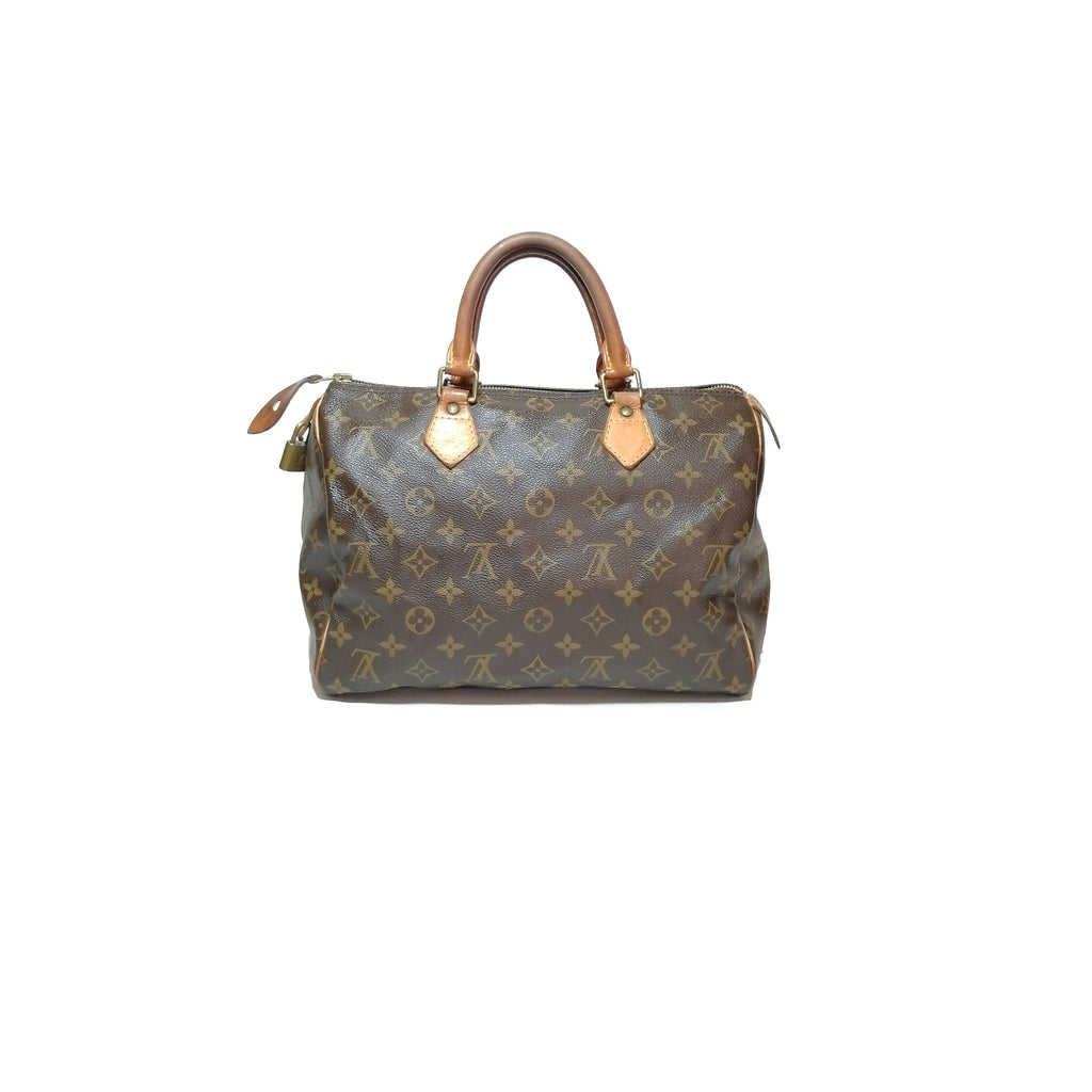 Louis Vuitton Speedy 30 Monogram Logo Tote