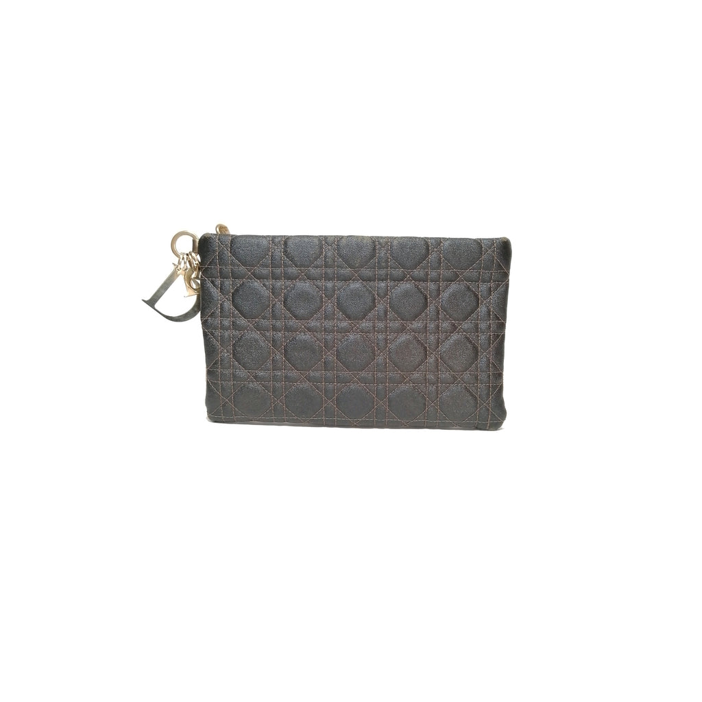DIOR Cannage Cannage Coated Canvas Panarea Clutch
