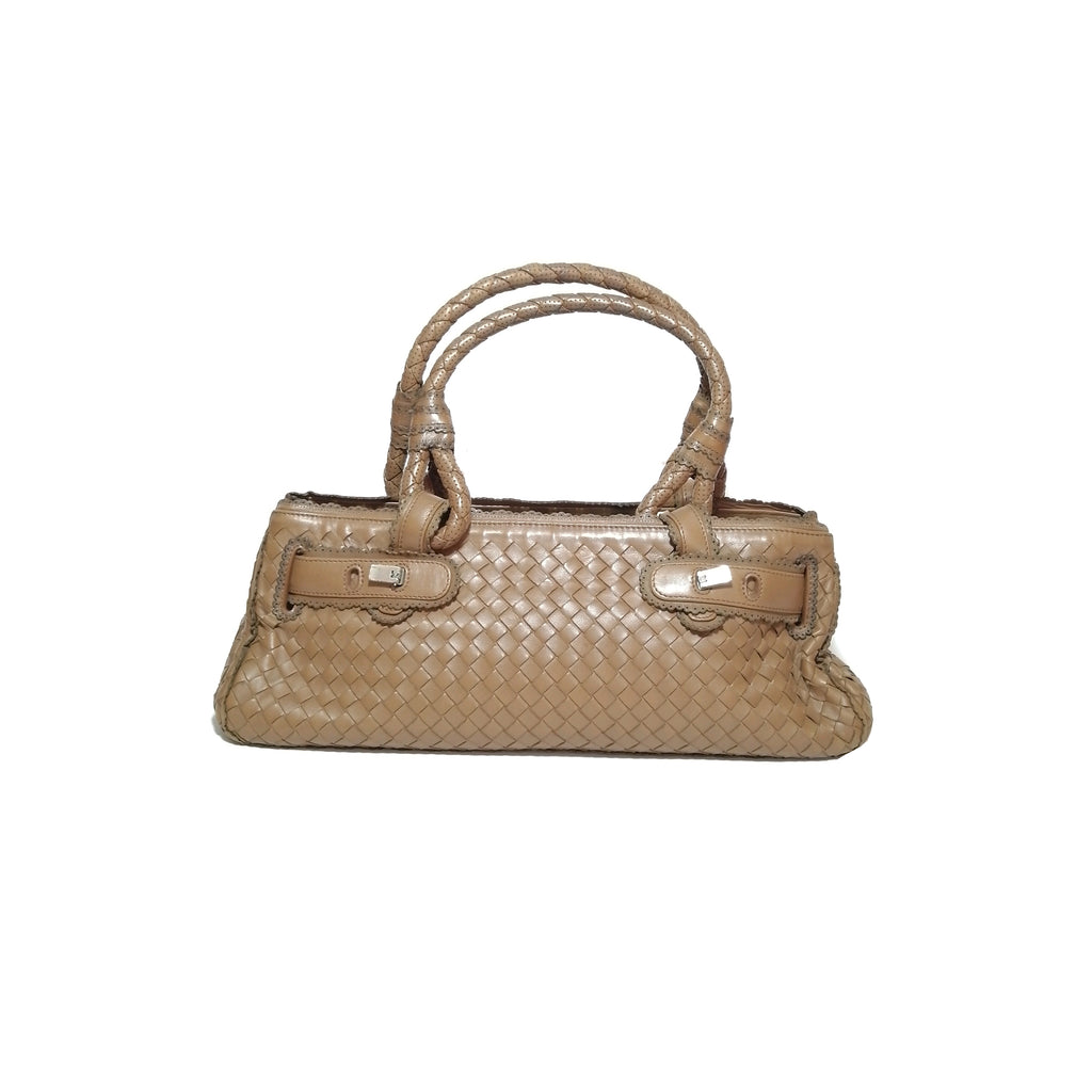 Bottega Veneta Tan Intrecciato Leather Tote | Pre Loved |