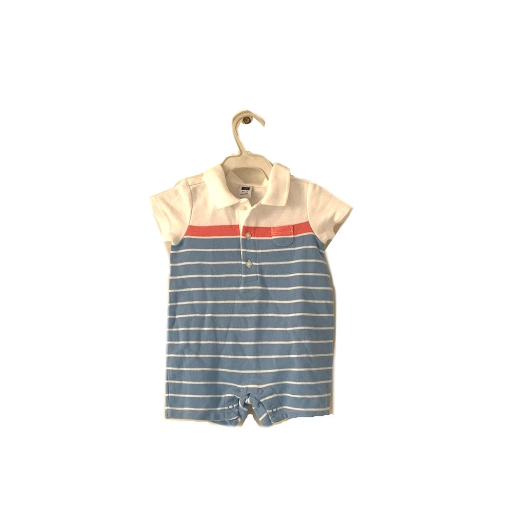 Janie & Jack Blue Striped Romper | Brand New |