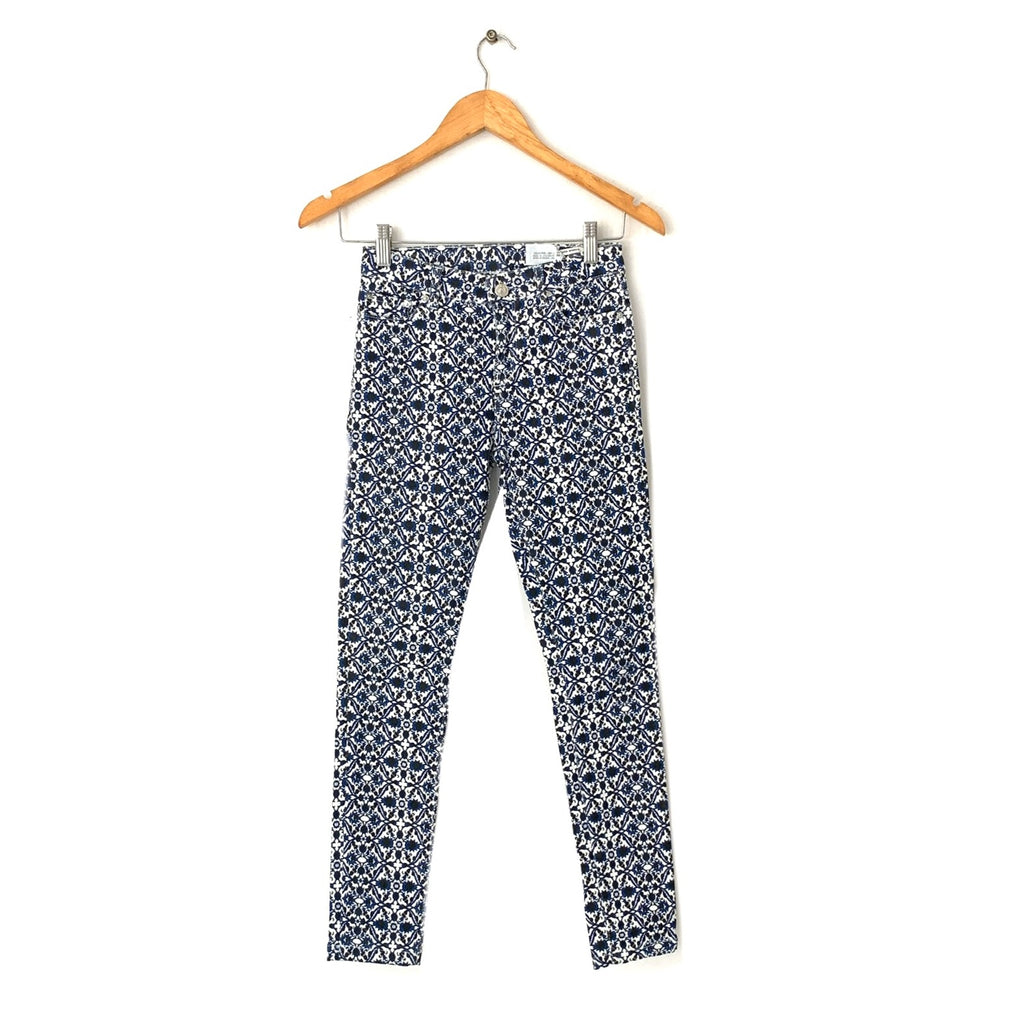 ZARA Blue Printed Pants | Gently Used |