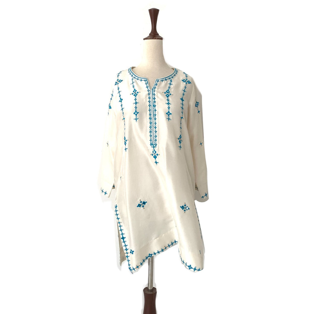 Miraka by Misha Lakhani Cream Embroidered Kurta | Gently Used |