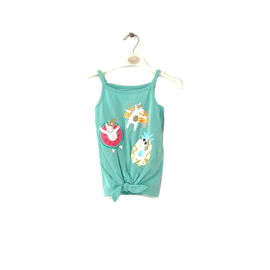 Carter's Mint Green Unicorn Sleeveless Top | Brand New |