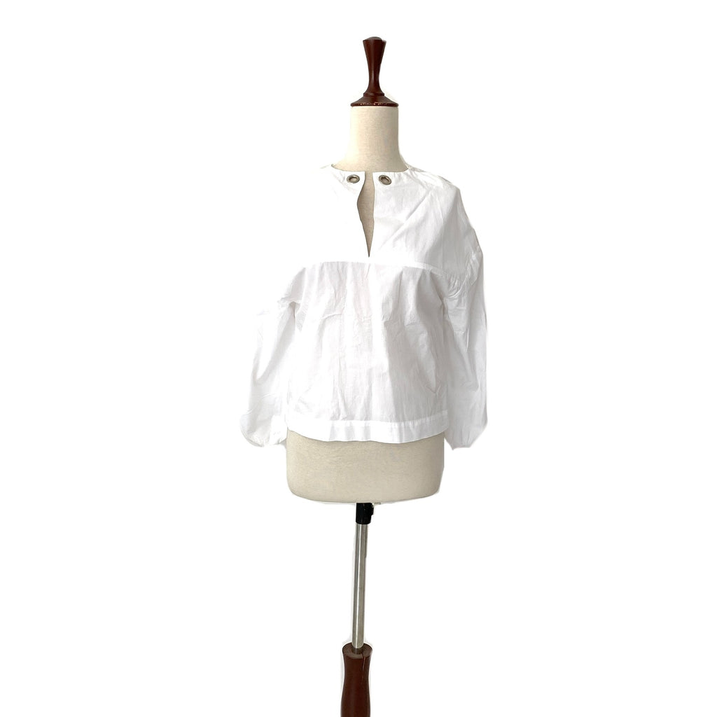 Mango White Shirt with Silver Eyelets | Brand New |