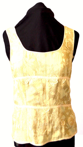 DKNY Gold Glitter Sleeveless Top | Gently Used |