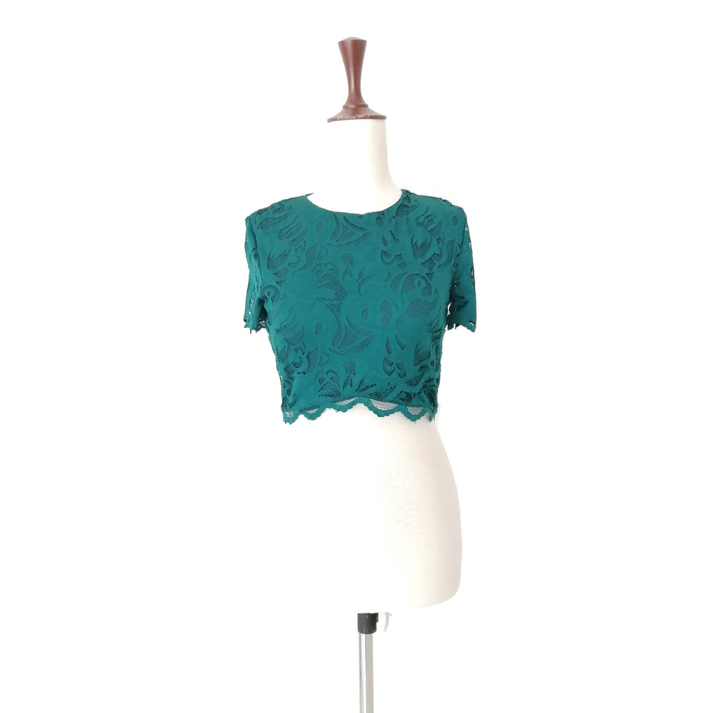 H&M Emerald Green Lace Top