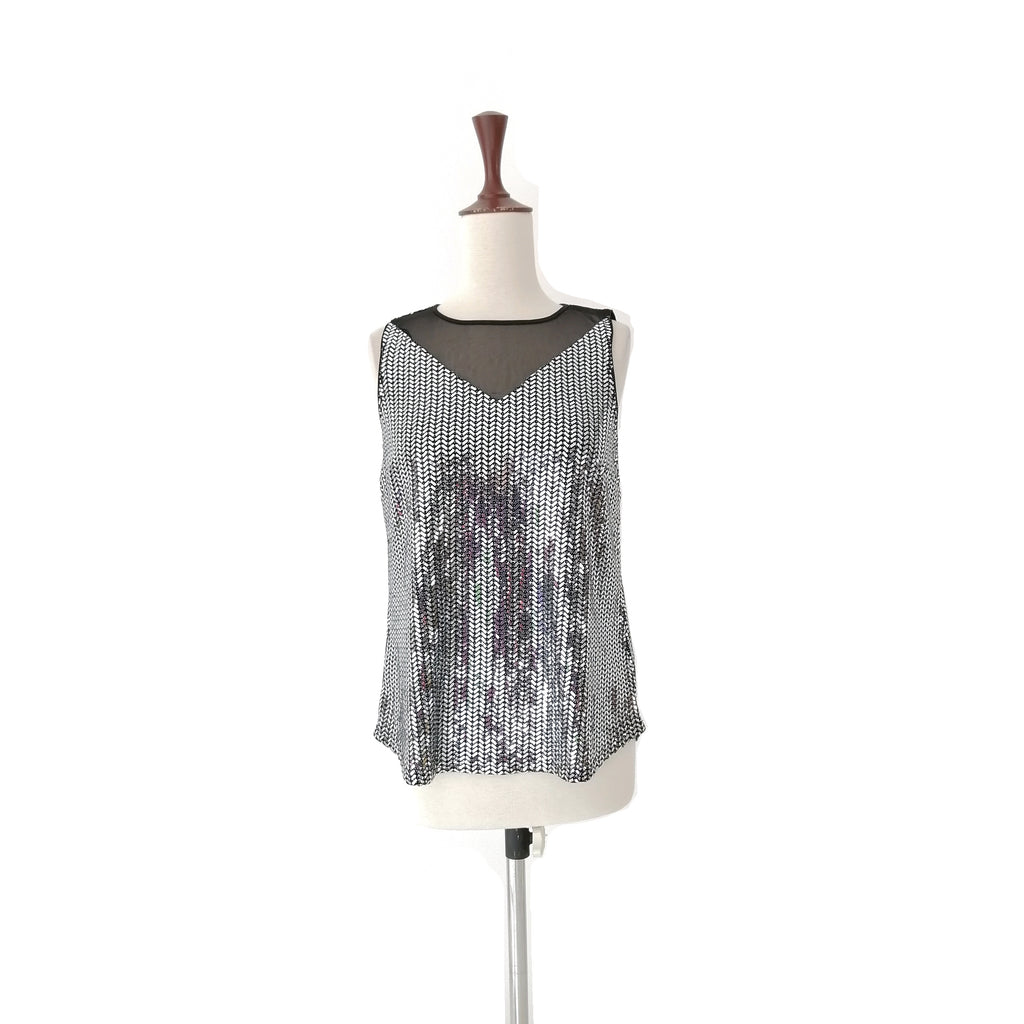 Dorothy Perkins Silver Sequins Top