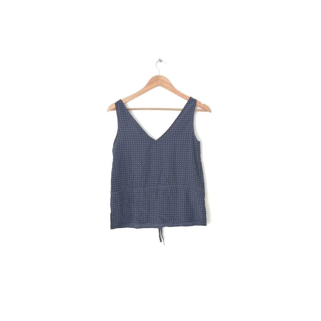 Mango Navy Printed Top | Like New |